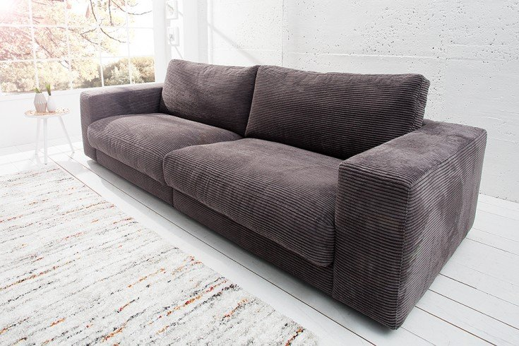 Design Sofa SEVENTIES von Candy Lifestyle grau