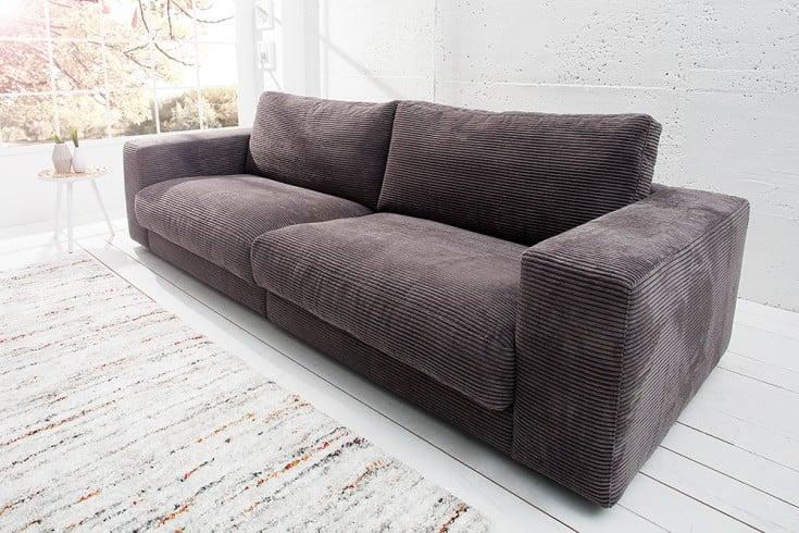 designsofa cord grau riess. Black Bedroom Furniture Sets. Home Design Ideas