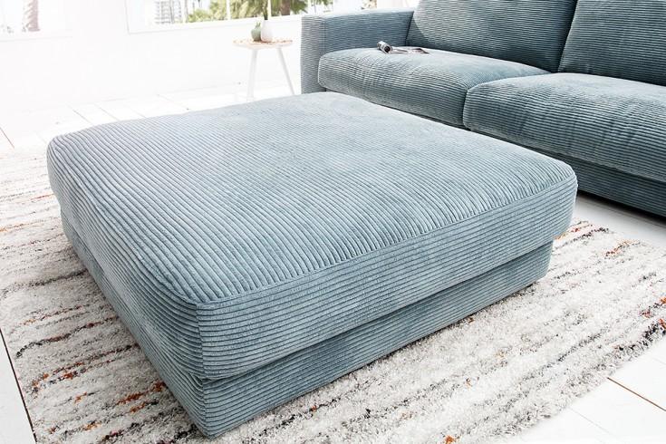 Hocker zu Designsofa SEVENTIES 100cm hellblau von Candy Lifestyle
