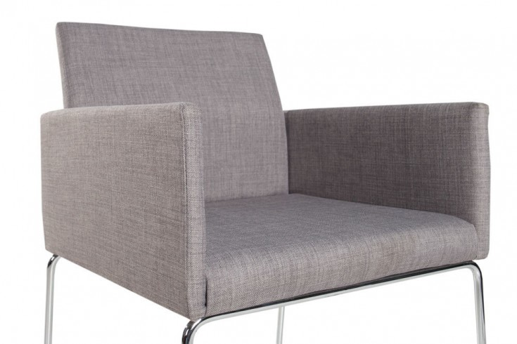 Eleganter design stuhl livorno strukturstoff grau konferenzstuhl mit armlehne riess - Stuhl mit armlehne grau ...