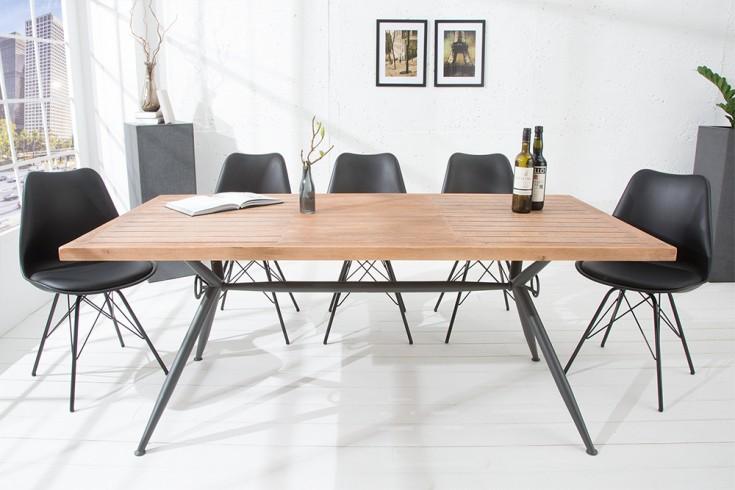 Design Esstisch CRAFT 180cm Akazie Massivholz matt schwarz In- und Outdoor