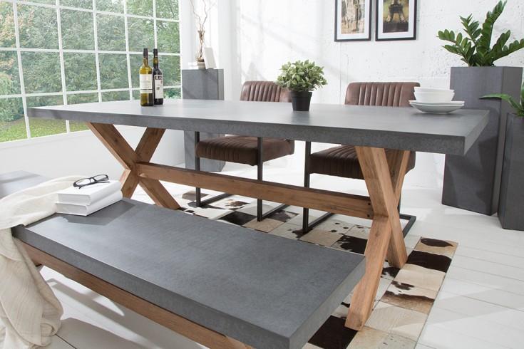 design esstisch akazie beton optik riess. Black Bedroom Furniture Sets. Home Design Ideas