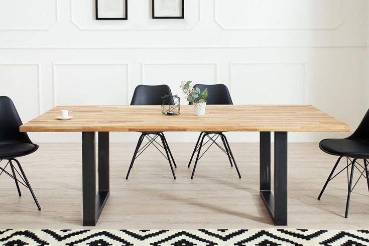 eiche esstisch 160cm industrial riess. Black Bedroom Furniture Sets. Home Design Ideas
