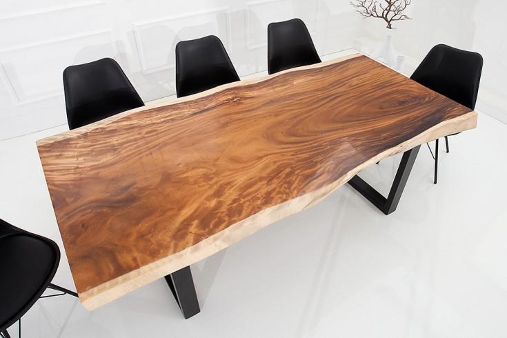 exklusiver baumstamm esstisch 200cm riess. Black Bedroom Furniture Sets. Home Design Ideas