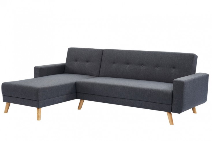 Modernes Ecksofa SCANDINAVIA CHAISE anthrazit Bettfunktion