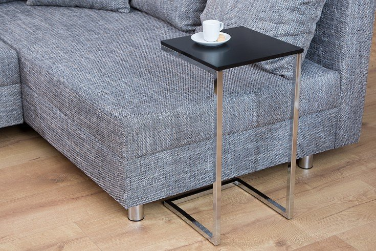 Design Beistelltisch SIMPLY CLEVER 30cm schwarz chrom