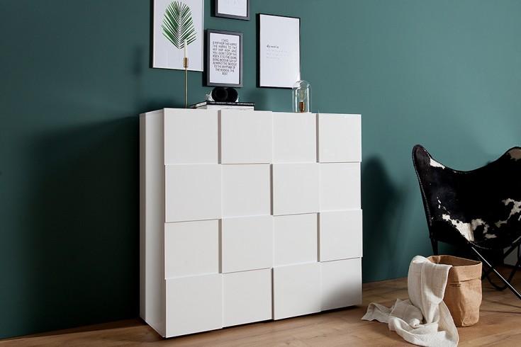 modernes highboard 120cm wei riess. Black Bedroom Furniture Sets. Home Design Ideas