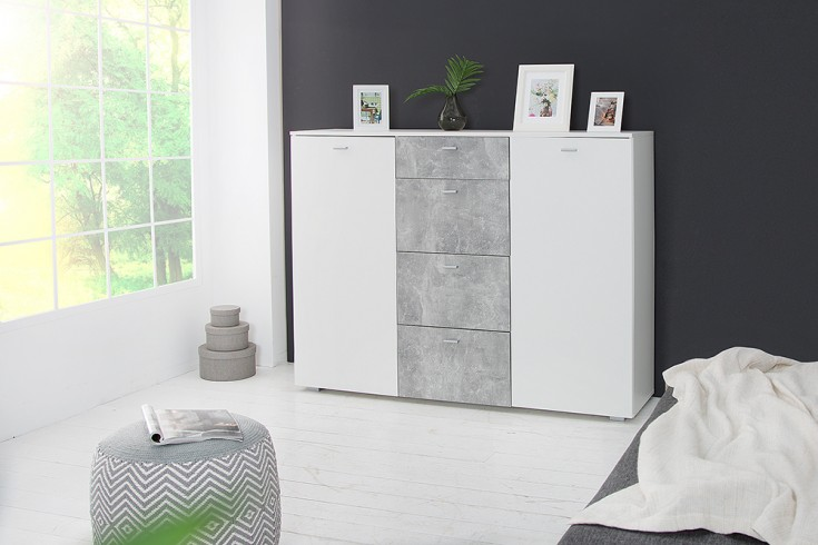 Kommode 150cm Hochglanz Beton-Optik | Riess-Ambiente.de