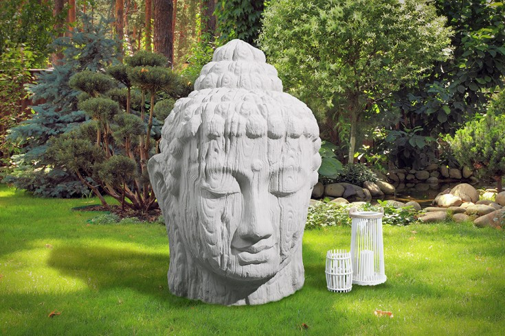 gro e opulente xxl buddha kopf 110cm statue naturgestein outdoorf hig riess. Black Bedroom Furniture Sets. Home Design Ideas