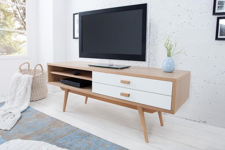 Stylisches Echt Eiche Lowboard HYGGE 120cm skandinavisches Design TV-Board