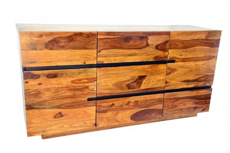 Massives Sideboard FIRE & EARTH II 160cm Sheesham Holz stone finish Palisander