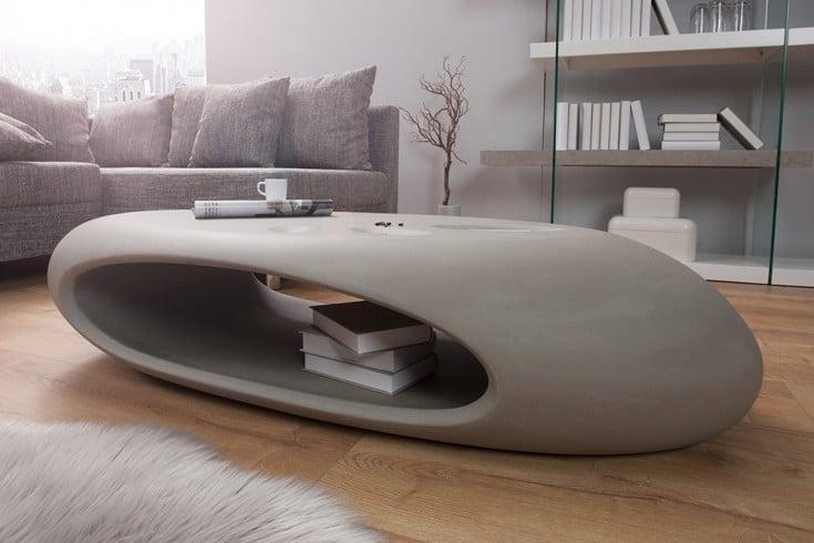Design Couchtisch Organic Ii 135cm Hochwertiges Fiberglas Beton