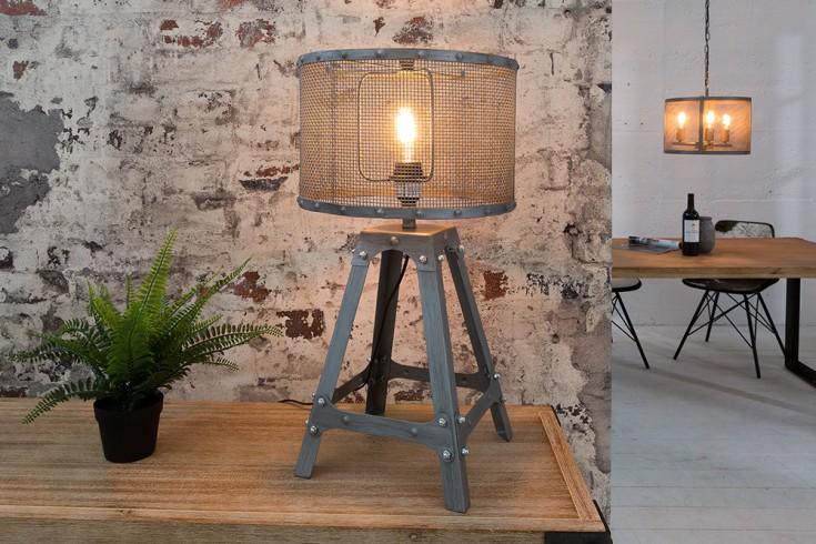 Industrial Design Tischleuchte LOFT 60cm iron grau Tischlampe