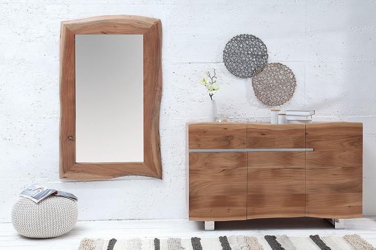 Massiver Baumkanten Spiegel MAMMUT 120cm Akazienholz