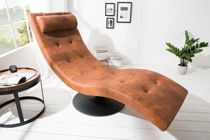 Extravagante Design Liege RELAXO coffee mit Steppung Relaxliege