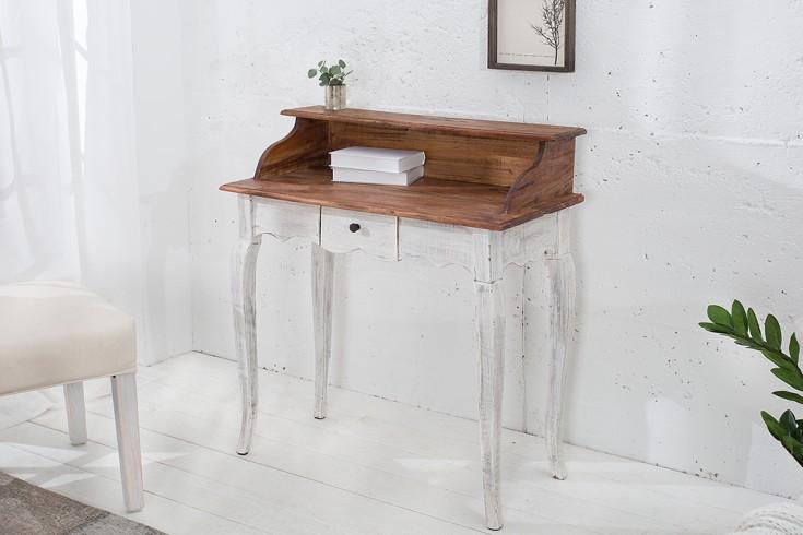 edler sekret r la fleur mahagoni landhausstil schreibtisch shabby chic wei riess. Black Bedroom Furniture Sets. Home Design Ideas