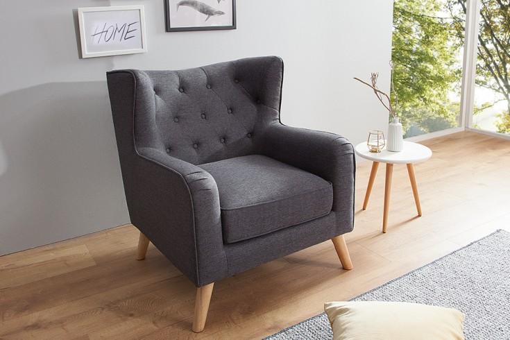 Moderner Design Sessel HYGGE anthrazit Scandinavian Design