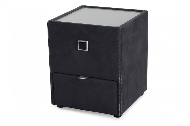 design nachtkommode palazzo f r boxspringbetten schwarz. Black Bedroom Furniture Sets. Home Design Ideas