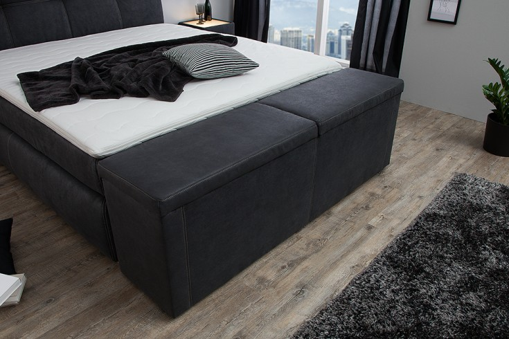 Design Hockerbank PALAZZO 180cm anthrazit Bettbank