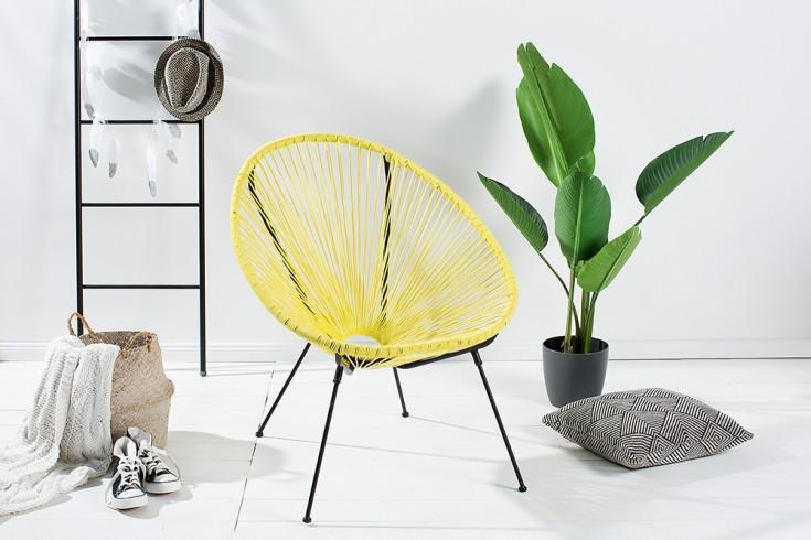 Retro Designklassiker ACAPULCO Sessel gelb Gartenstuhl wetterfest