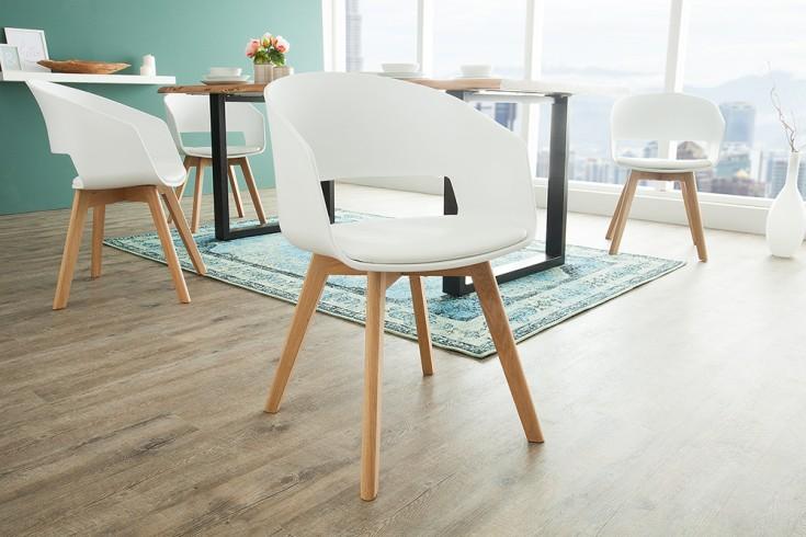 Design Stuhl NORDIC STAR mit Beinen aus Eiche weiß