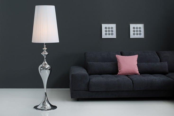Edle Design Stehleuchte LUCIE 160cm weiß Barock Stil Stehlampe