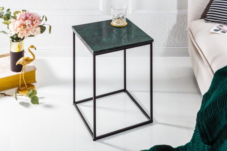 Eleganter Beistelltisch NOBLE IV 30cm Marmor Tisch grüner Marmor