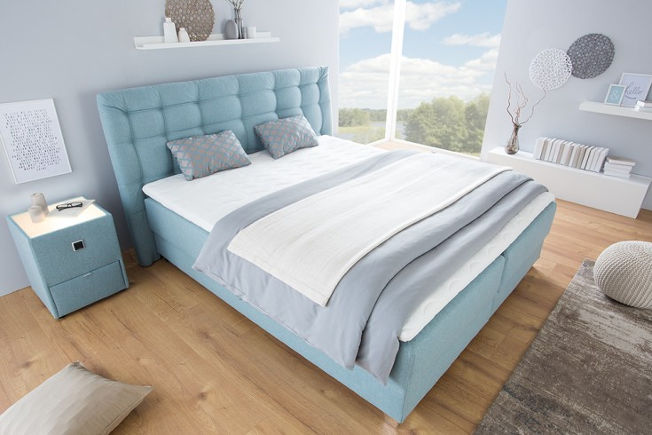 elegantes boxspringbett selection 180x200 aqua bettkasten inkl topper und kissen riess. Black Bedroom Furniture Sets. Home Design Ideas