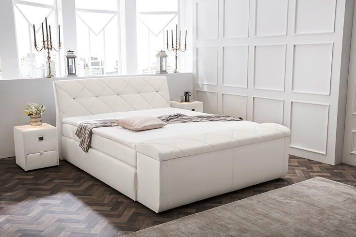 Extravagante Hockerbank BOUTIQUE 180cm weiß Bettbank