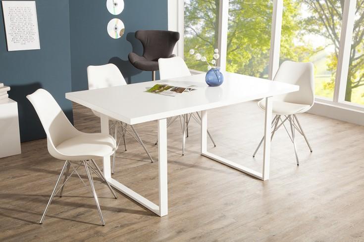 design esstisch lucente 160cm edelmatt wei mit kufengestell riess. Black Bedroom Furniture Sets. Home Design Ideas