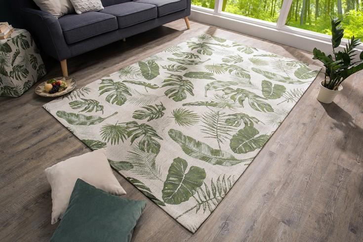 Design Teppich TROPICAL grün 240x160cm Blättermuster