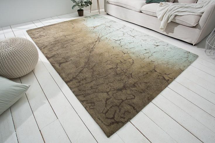 Design Teppich FIRE & EARTH 240x160cm braun Baumwolle