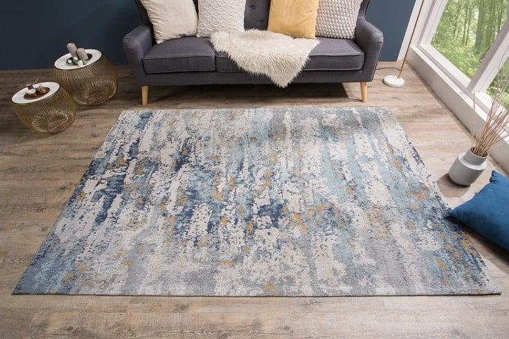 Design Teppich ABSTRAKT 240x160cm blau Baumwolle