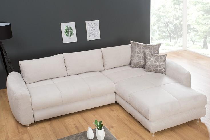 Moderne Wohnlandschaft AMBIENCE beige Schlafsofa inkl. Kissen