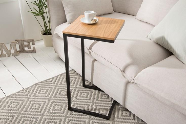 Design Beistelltisch SIMPLY CLEVER 30cm Eiche schwarz