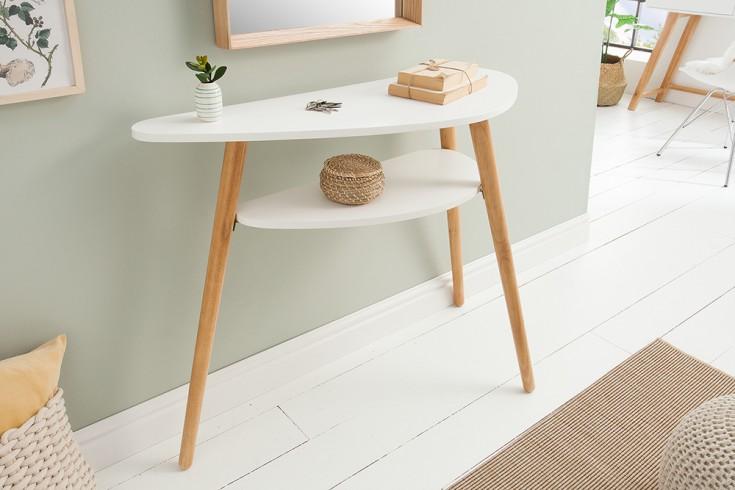 Design Konsolentisch SCANDINAVIA 95cm weiß Scandinavian Design Flurtisch