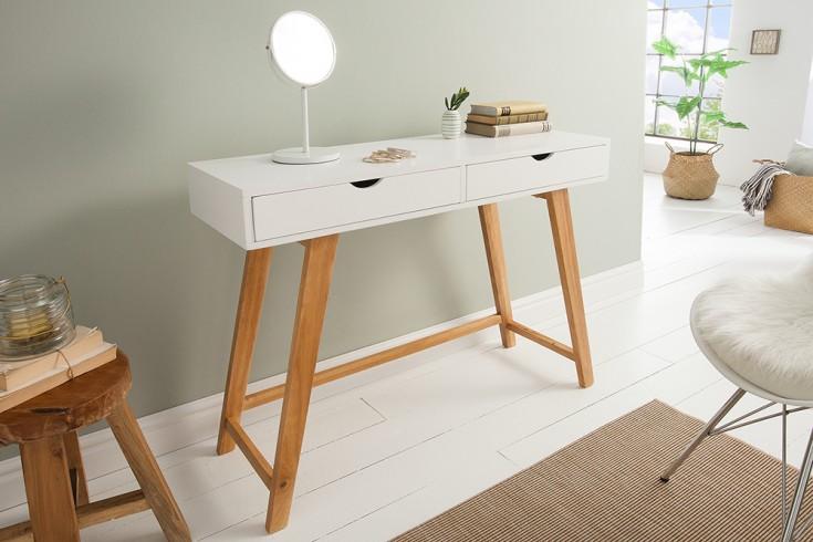 Geräumiger Konsolentisch SCANDINAVIA 100cm weiß Scandinavian Design Schreibtisch
