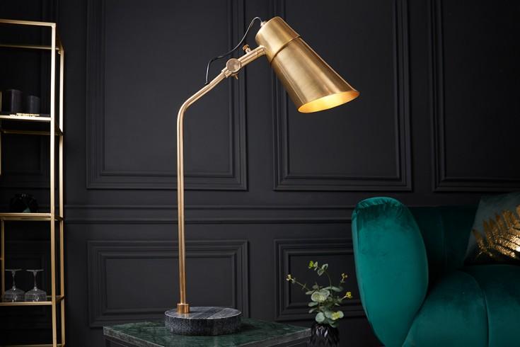 Industrial Tischlampe ENGINEERING 64cm gold mit schwarzem Marmorfuß