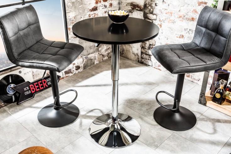 Design Stehtisch MOVE 60cm schwarz chrom Bistrotisch höhenverstellbar Bartisch