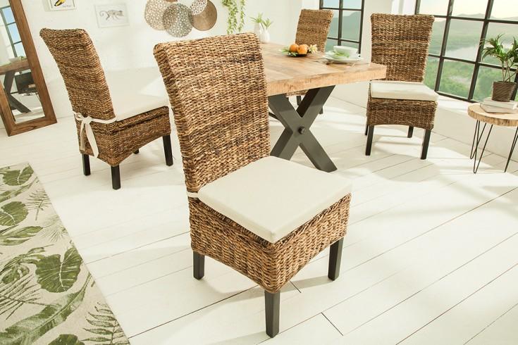 Hochwertiges Sitzkissen BALI 48x44cm weiß mit Schleife
