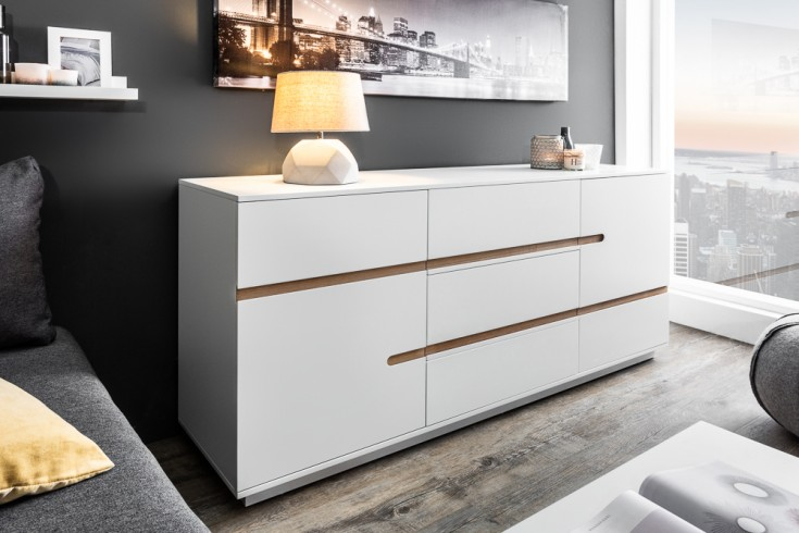 Modernes Design Sideboard ELEMENTS 160cm edelmatt weiß