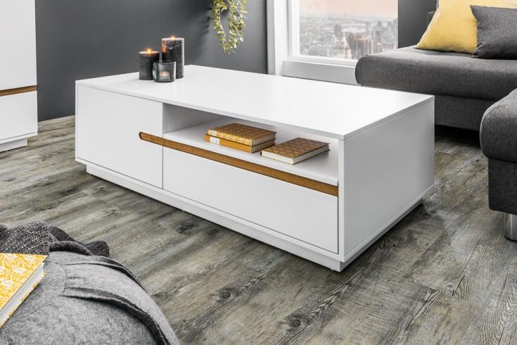 Moderner Design Couchtisch ELEMENTS 115cm edelmatt weiß