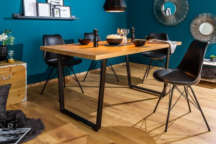 design esstisch loft 160cm eiche mit kufengestell. Black Bedroom Furniture Sets. Home Design Ideas