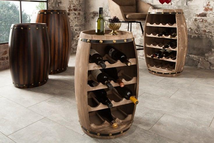Authentisches Weinregal CHATEAU 60cm natur Weinfass Shabby Chic