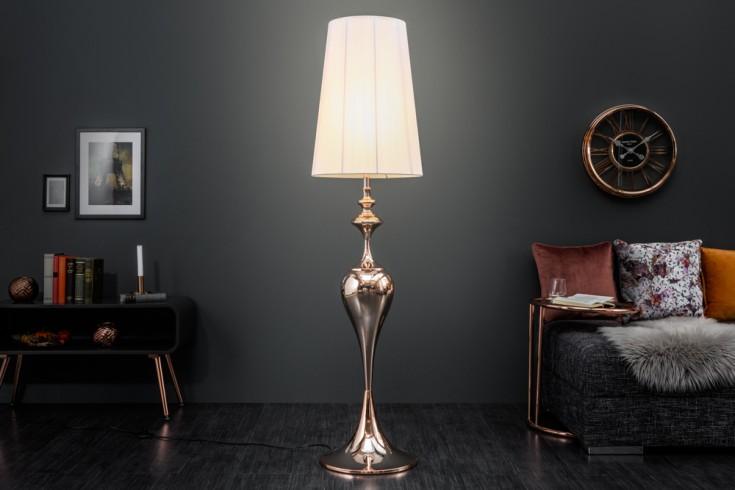 Edle Design Stehleuchte LUCIE roségold 160cm