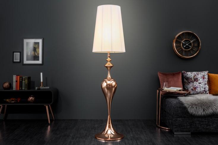 Edle Design Stehlampe LUCIE 160cm roségold Barock Stil Stehleuchte