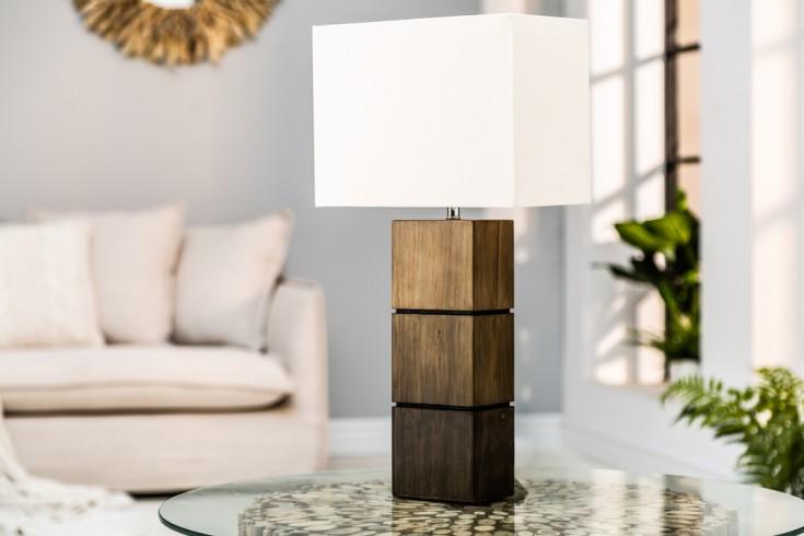 Elegante Tischleuchte PURE NATURE I 60cm Baumwolle Massivholz Tischlampe