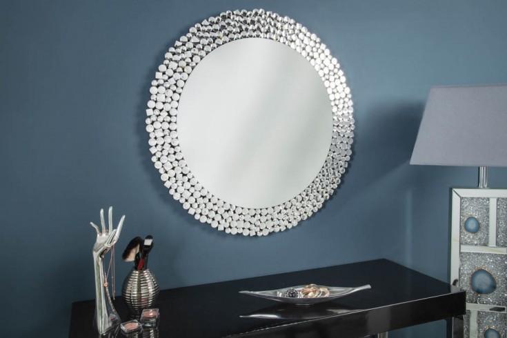 Extravaganter Wandspiegel BIG DIAMONDS 80cm rund mit Mosaik-Muster