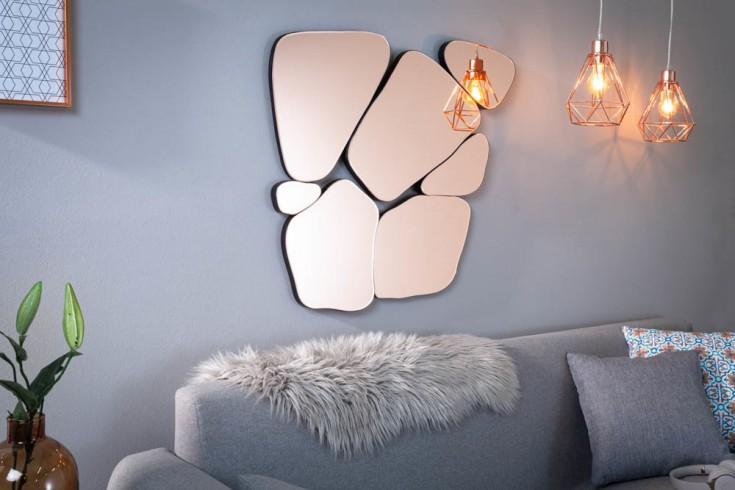Eleganter Spiegel FRAGMENT 78cm rosa Wanddekoration variabel aufhängbar