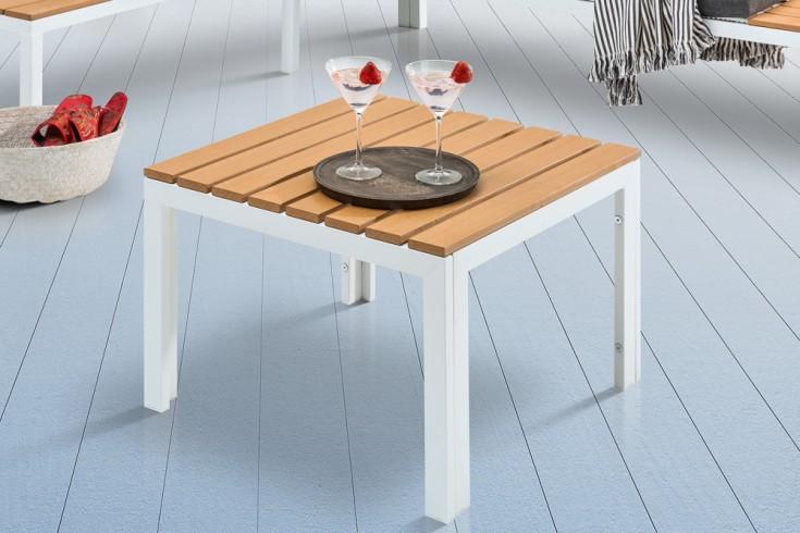 Outdoor Garten Tisch ORLANDO LOUNGE 60cm weiß Stahl wetterfest